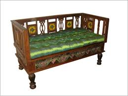 Antique Wooden Sofa With Traditional Indian Finish And Hand - Antique sofa designs