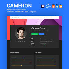 personal website html template personal site template free