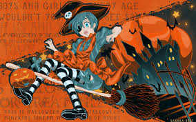cute halloween hd wallpaper anime halloween wallpaper wallpapersafari
