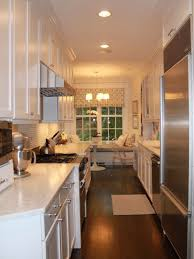 Galley Kitchen Design With Island Rectangular Kitchen Island In Galley Kitchen U2014 Smith Design More