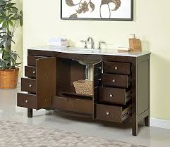 bathroom stylish 60 inch double sink modern cherry vanity with