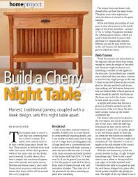 Woodworking Plans Bedside Table by Cherry Bedside Table Plans U2022 Woodarchivist