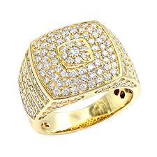 square shaped rings images Luxurman 14k gold mens diamond ring square shape 2 5ct pinky ring jpg