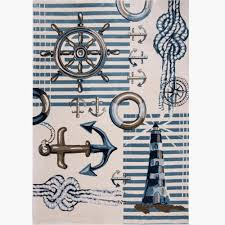 Nautical Area Rugs Home Dynamix Bazaar Nautical Blue 7 Ft 10 In X 10 Ft 2 In