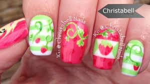 christabellnails strawberry shortcake nail art tutorial youtube