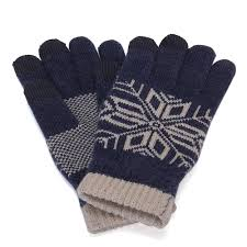 orignal xiaomi wool finger touch gloves for male blue