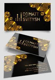 dj business card template 100 images dj business cards