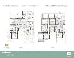 Six Bedroom Floor Plans Arabian Ranches Rasha Floor Plans