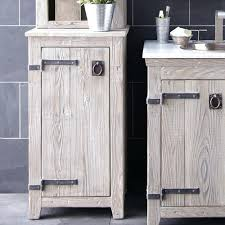 bathroom cabinet unit storage white wood cupboard free standing
