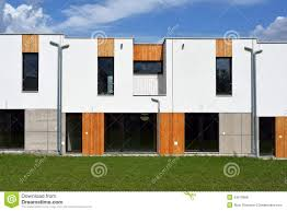 just built modern family row house stock photo image 43519968