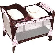 Pink And Brown Graco Pack N Play With Changing Table Graco Merchandise Walmart