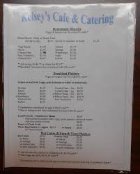 menu kelsey u0027s café u0026 catering hillsborough nc