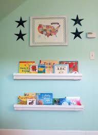diy rain gutter bookshelves for kids bright horizons blogger