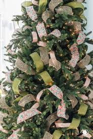 how to decorate a christmas tree with ribbon kelley nan