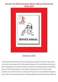 honda vtx1300 workshop repair manual download by diedra baltrip
