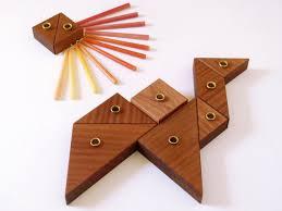 children s menorah this tangram hanukkah menorah is playful and modular a unique
