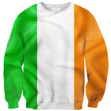Green White Orange Flag Irish Flag Sweater Shelfies