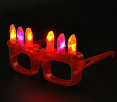 led light up cake candle eyeglasses new year