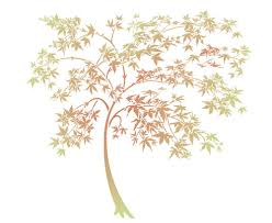 japanese maple tree trees topiary stencil design from stencil