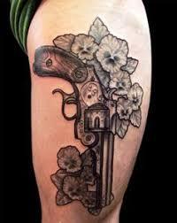 Girly Tattoo Sleeve Ideas Best 25 Gun Tattoos Ideas On Pinterest Pistol Gun Tattoos