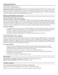 Resume Sample Engineer by Free Project Engineer Resume Example