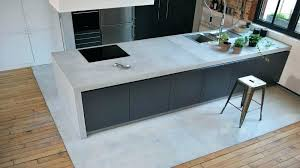faire un plan de travail cuisine beton cire sur plan de travail plan travail cuisine plan travail en