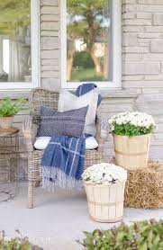 Cozy Front Porch Chairs On Early Fall Front Porch A Burst Of Beautiful