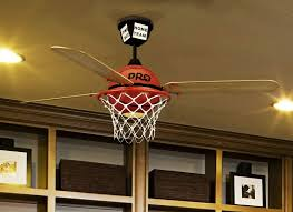 Sports Ceiling Light Basketball Ceiling Fan With Custom Prostar Blades And Integrated