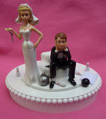 and chain cake topper wedding cake topper bowling groom and chain key themed w
