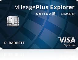 chase united mileageplus explorer cardmember benefits
