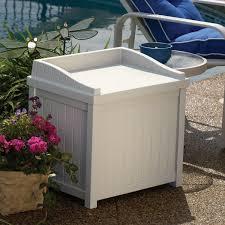 Suncast 50 Gallon Patio Bench by Amazon Com Suncast Ss1000 Storage Seat Garden U0026 Outdoor