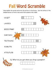 fall word scramble 250 jpg