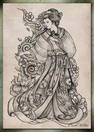 japanese geisha awesome graphic design tattooshunter com