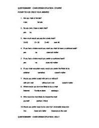 questionnaire design questionnaire suggestion gcse design technology marked by
