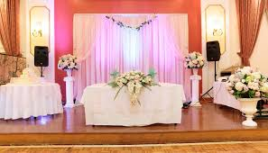 wedding backdrop altar how to set up a diy wedding backdrop the budget savvy