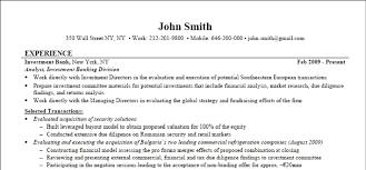 Student Internship Resume Template Sample Resume Investment Banking 20 Investment Banking Internship