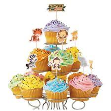 safari cake toppers 24pcs safari jungle animal cupcake toppers birthday party