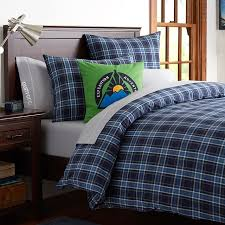Boys Duvet Covers Twin Burton Forest Plaid Duvet Cover Sham Pbteen