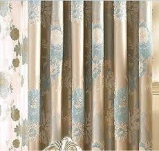 Grommet Top Blackout Curtains Iyuegou Contemporary Jacquard Faux Silk Multi Floral Grommet Top