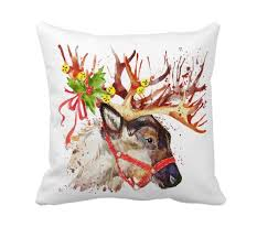 Moose Home Decor Online Store 4th Emotion Watercolor Christmas Holidays Reindeer