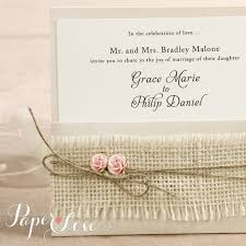 vintage invitations wedding invitation vintage ribbon rustic shabby chic paper
