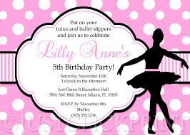 ballerina birthday party invitation wording u2014 criolla brithday