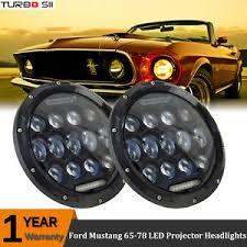 ebay mustang headlights 65 78 ford mustang 7 projector led headlights pair h4 light