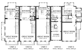 Town House Floor Plans 03425 4 Townhouse House Plan 03425 4 Design From Allison