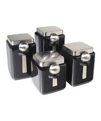 oggi kitchen canisters take a look at this black square canister spoon 4 set by
