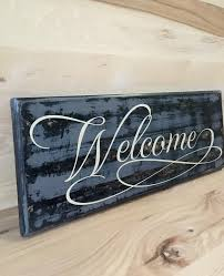 welcome custom wood sign welcome sign front door new home gift
