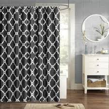 White On White Shower Curtain Black Shower Curtains You U0027ll Love Wayfair