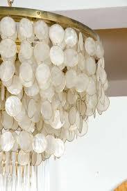 White Shell Chandelier Captivating Capiz Shell Chandelier At 1stdibs