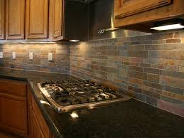interior amazing slate backsplash metallic glass slate linear al