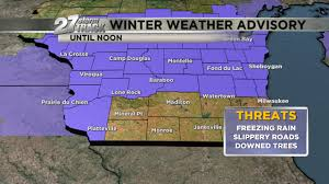 Janesville Wi Map Update Winter Weather Advisory Extended Until Noon For Parts Of